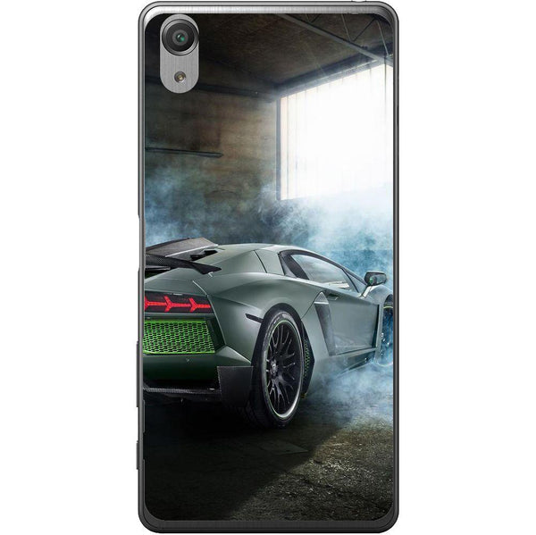 Phone Case Black Lamborghini Aventador Sony Xperia X Performance