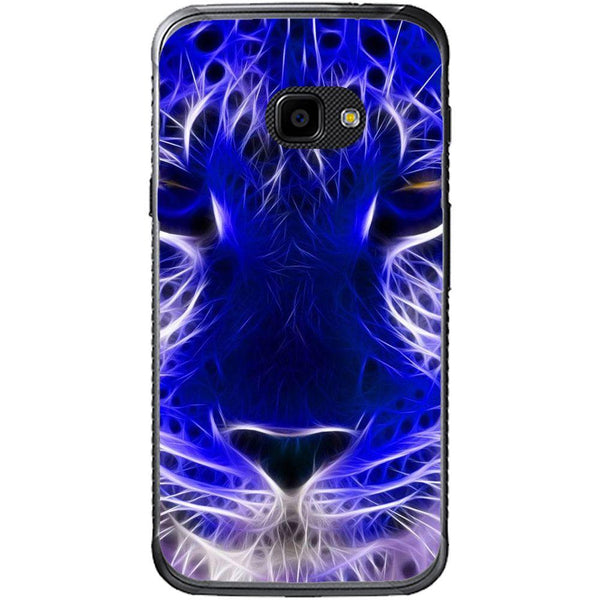 Phone Case Blue Neon Lion Samsung Galaxy Xcover 4