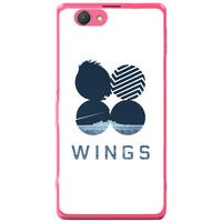 Phone Case Blue Wings Sony Xperia Z1 Compact D5503