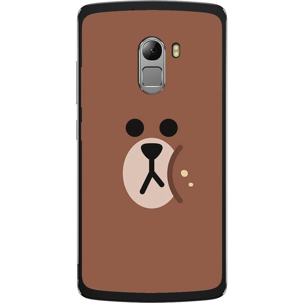 Phone Case Brown Bear Face Lenovo K4 Note A7010 Vibe X3 Lite