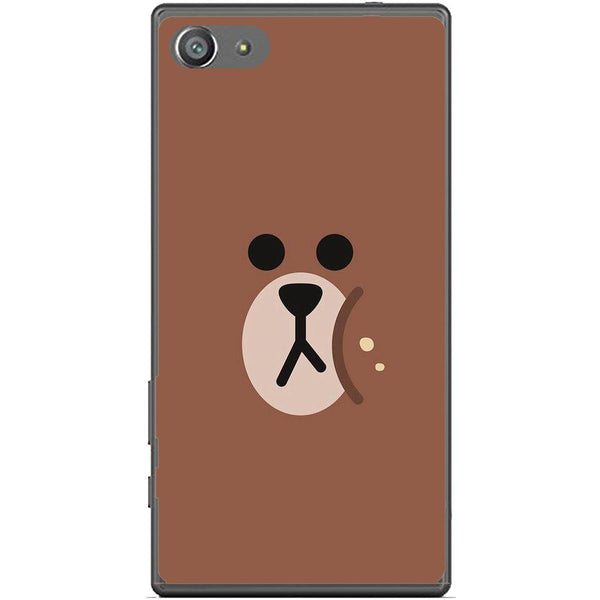 Phone Case Brown Bear Face Sony Xperia Z5 Compact