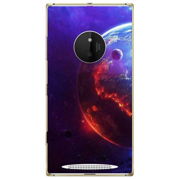 Phone Case Burning Planet View Nokia Lumia 830