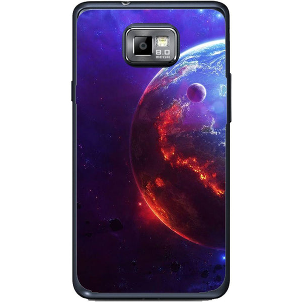 Phone Case Burning Planet View Samsung Galaxy S2 Plus I9105