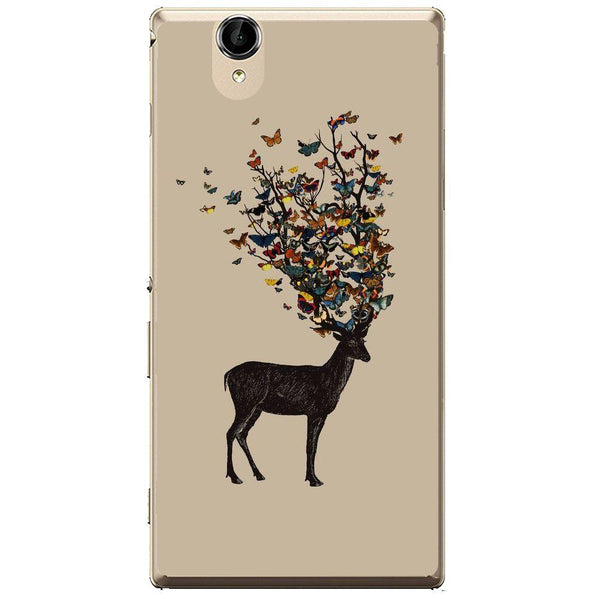 Phone Case Butterfly Deer Sony Xperia T2 Ultra
