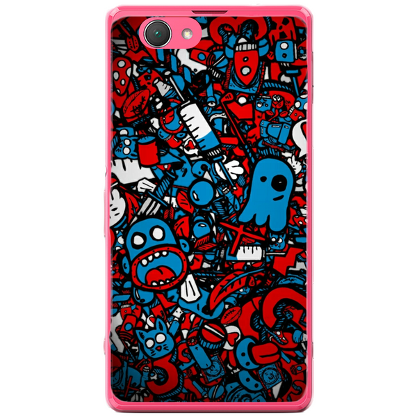 Phone Case Doodle Bomb Sony Xperia Z1 Compact D5503