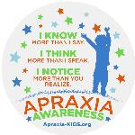Apraxia Awareness Window Cling