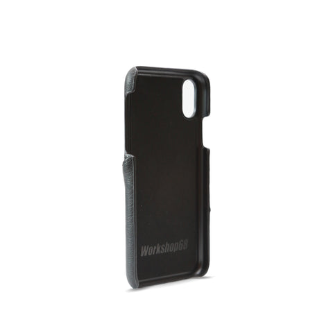 Shadow Black Stitch Wallet iPhone Case | Workshop68