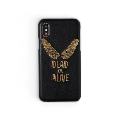 Dead Or Alive | Embroidered iPhone Case by Workshop68