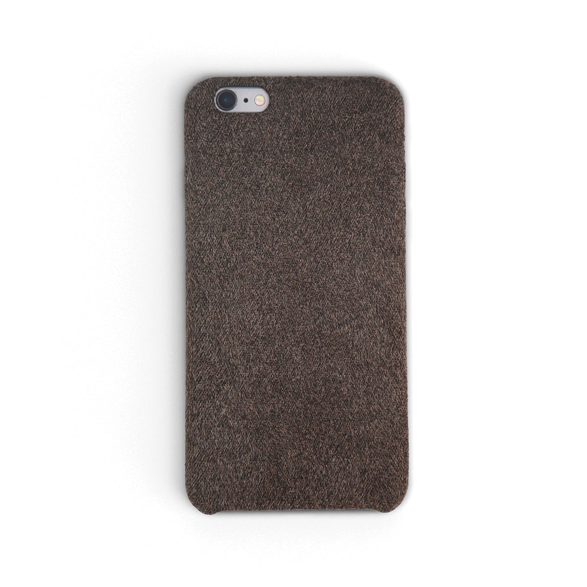 Coffee Brown Fabric iPhone Case | Workshop68