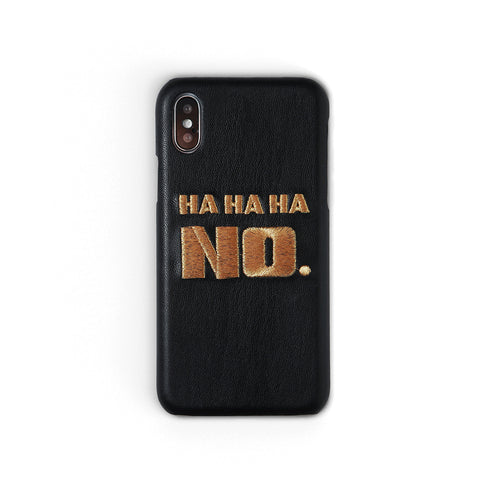 Ha Ha Ha No Workshop68 iPhone Case