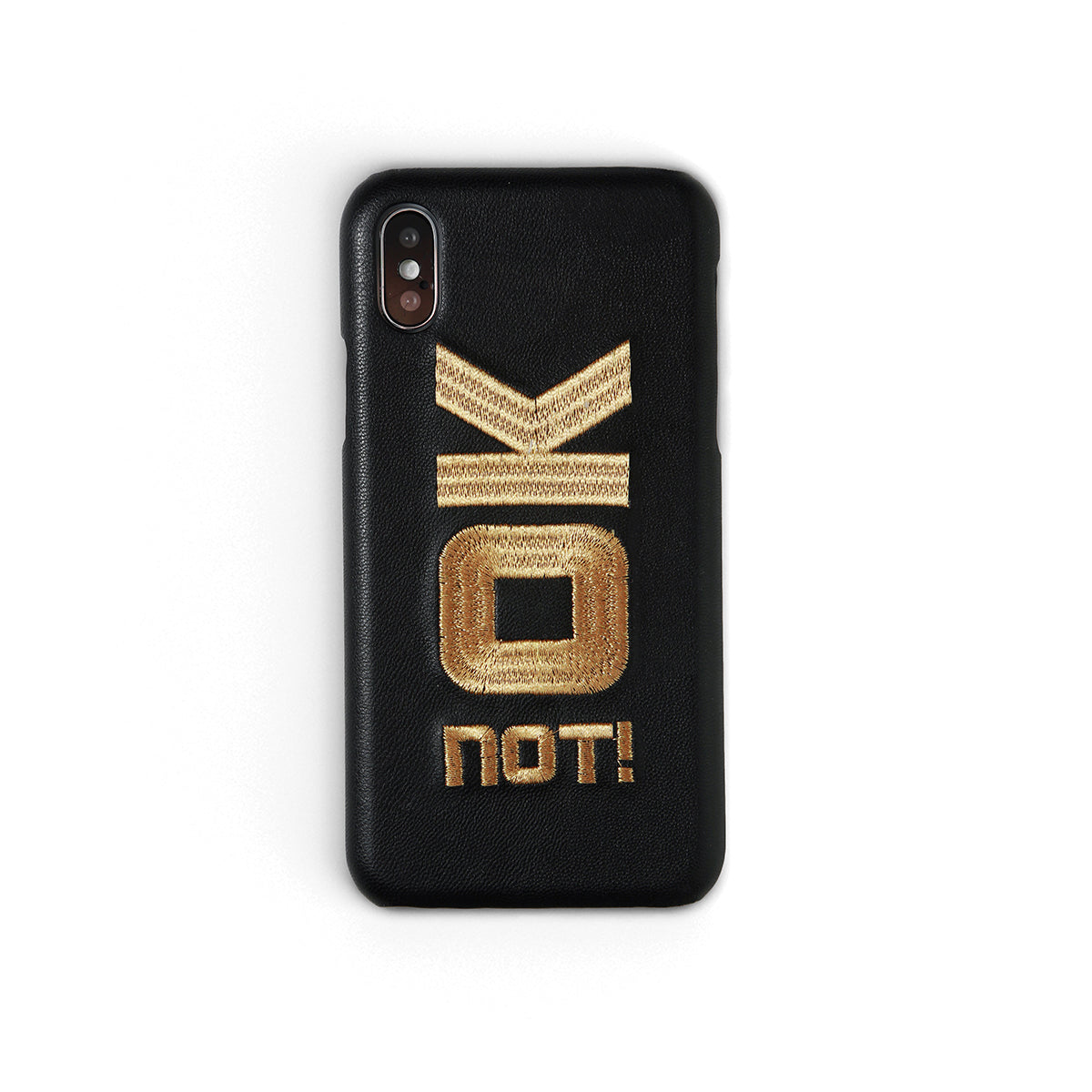 OK Not! | Embroidered iPhone Case by Workshop68