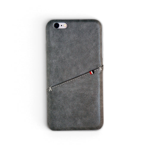 Fossil Grey Stitch Wallet iPhone Case | Workshop68