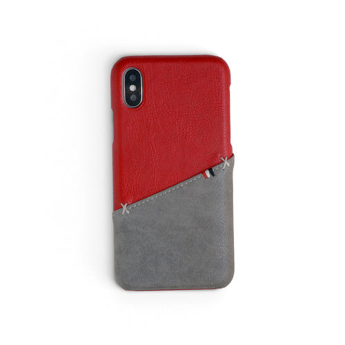 Ruby/Ash Split Stitch Wallet iPhone Case | Workshop68