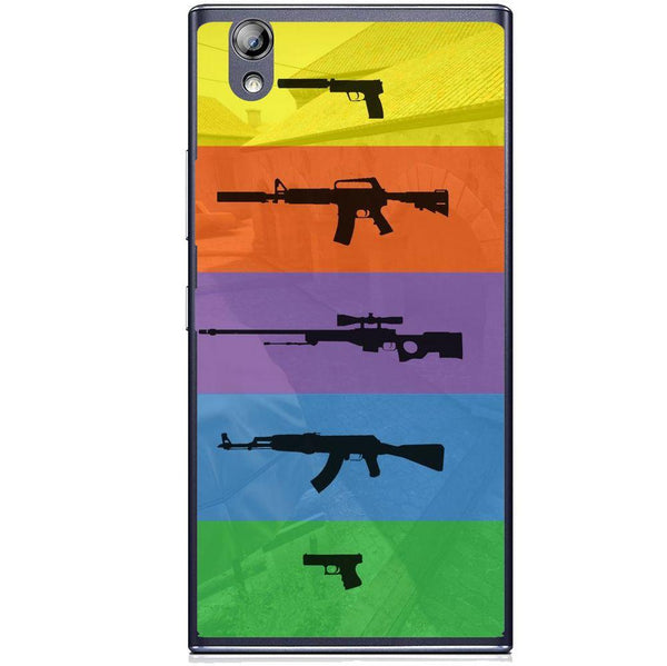 Etui na telefon Cs Go Multicolour Weapons Lenovo P70