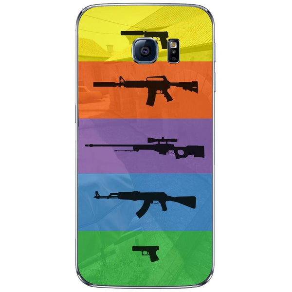 Etui na telefon Cs Go Multicolour Weapons SAMSUNG Galaxy S6 Edge