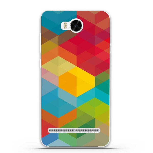 Etui na telefon Colored Cubes HUAWEI Ascend Y3 Ii