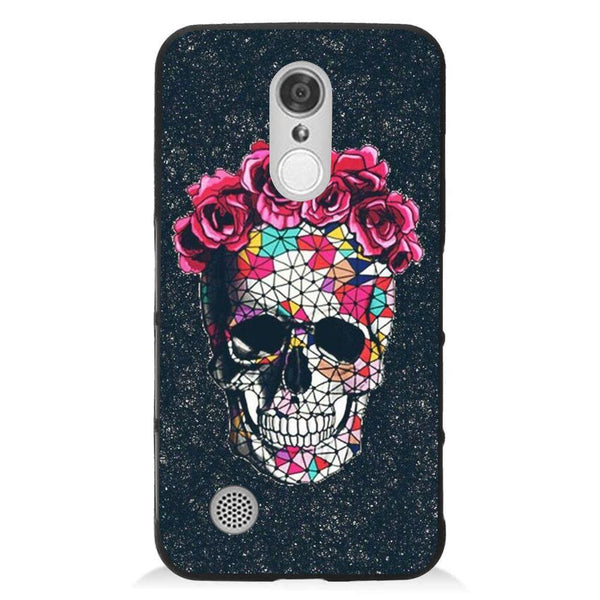 Etui na telefon Colorful Skull Roses Space LG K8 2017