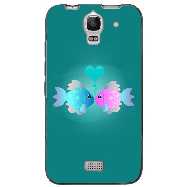 Etui na telefon Colorful Fish Love Blue&pink HUAWEI Ascend Y360