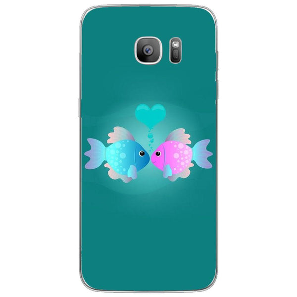 Etui na telefon Colorful Fish Love Blue&pink SAMSUNG Galaxy S7 Edge