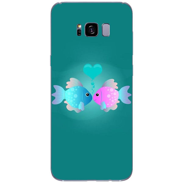 Etui na telefon Colorful Fish Love Blue&pink SAMSUNG Galaxy S8 Plus