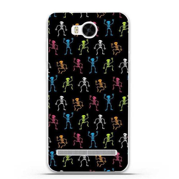 Etui na telefon Colorful Skelletons Dark Pattern HUAWEI Ascend Y3 Ii