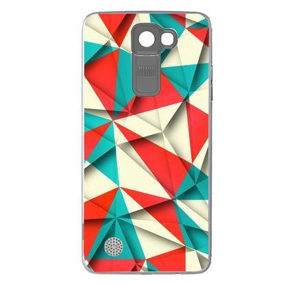 Etui na telefon Coloured Papper Pattern LG K8