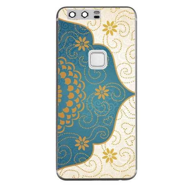 Etui na telefon Cream Blue Gold Paisley Damask Pattern HUAWEI Ascend P10 Plus