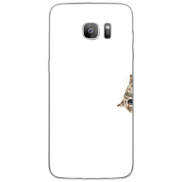 Etui na telefon Curious Cat Sneaking Up SAMSUNG Galaxy S7 Edge