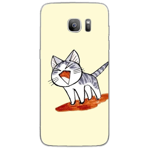 Etui na telefon Cute Cat Cartoon Drawing SAMSUNG Galaxy S7 Edge