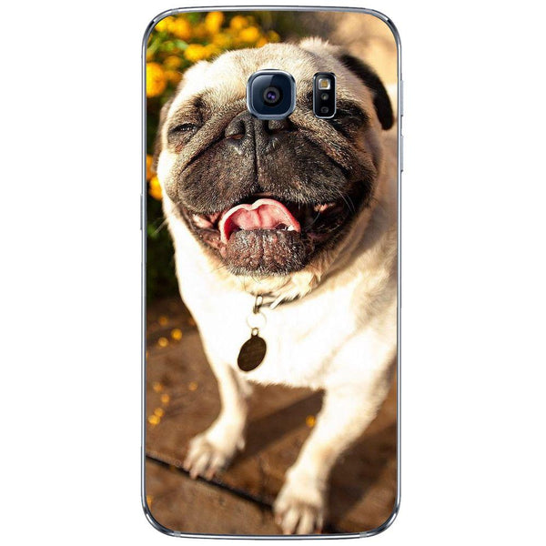 Etui na telefon Cute Pug Laughing SAMSUNG Galaxy S6 Edge
