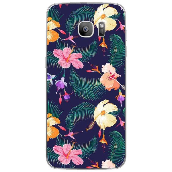 Etui na telefon Cute Retro Flowers SAMSUNG Galaxy S7 Edge