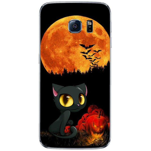 Etui na telefon Cute Cat And Pumpkin SAMSUNG Galaxy S6 Edge
