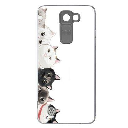 Etui na telefon Cute Couple Cats LG K8