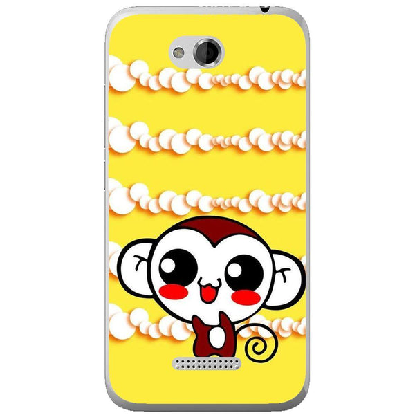Etui na telefon Cute Monkey Amine Yellow HTC Desire 616
