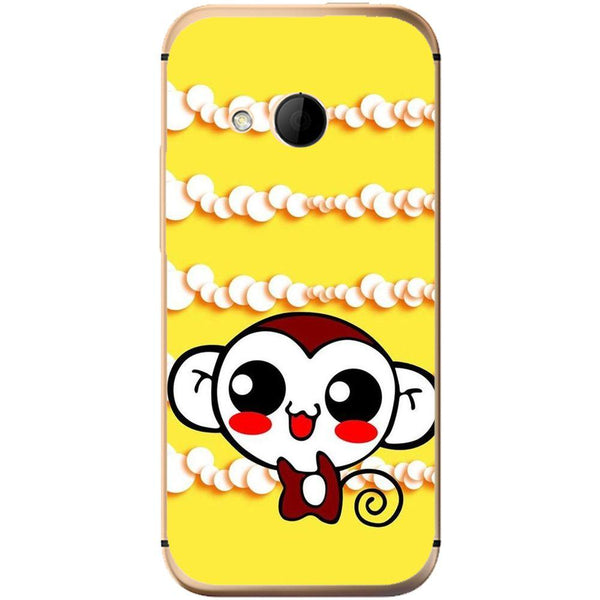 Etui na telefon Cute Monkey Amine Yellow HTC One Mini 2