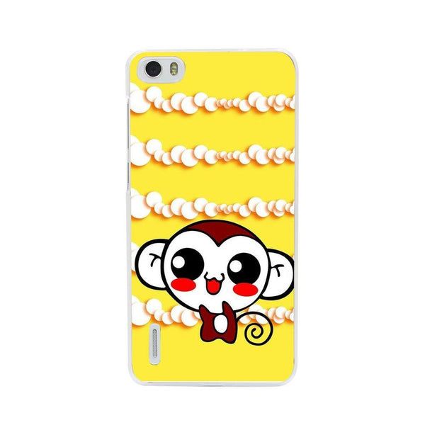 Etui na telefon Cute Monkey Amine Yellow HUAWEI Ascend P7