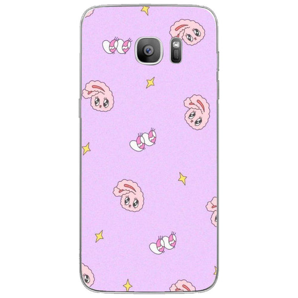 Etui na telefon Cute Pink Bunny Background SAMSUNG Galaxy S7 Edge