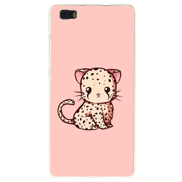 Etui na telefon Cute Pink Kawaii Cat HUAWEI Ascend P8