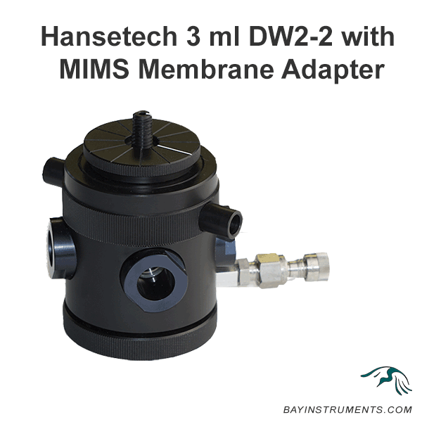 Hansetech 3 ml DW2-2 with MIMS Membrane Adapter, MIMS and Accessories - Bay Instruments, LLC