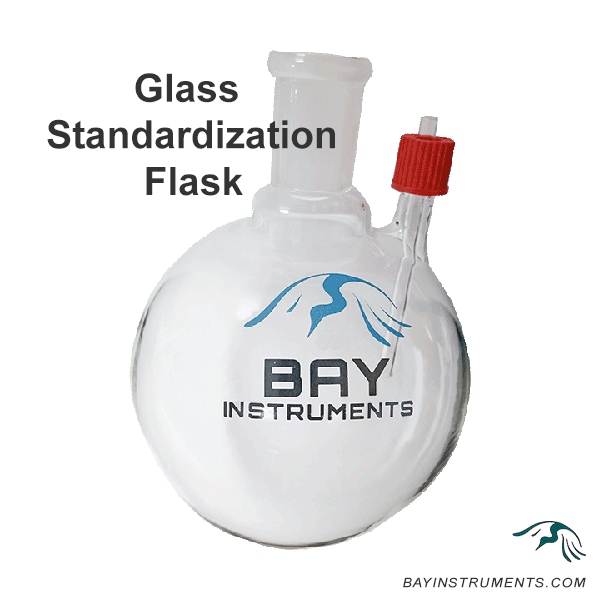 Bay Instruments Glass Standardization Flask w/ Integrated Sample Port, Gas Standardization - Bay Instruments, LLC