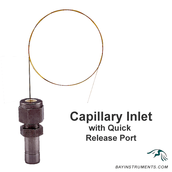 Capillary Inlet - Quick Release Port, Inlets and Components - Bay Instruments, LLC