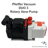 Pfeiffer Vacuum Duo 3 Two-Stage Rotary Vane Pump Kit with Oil Mist Filter and P3 Oil, rotary vane pump - Bay Instruments, LLC