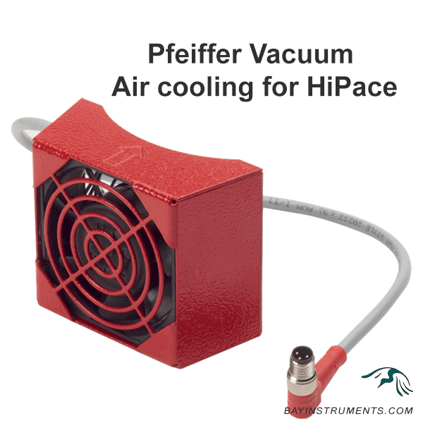 Pfeiffer Vacuum Air cooling for HiPace 60 P, HiPace 80 and SplitFlow, HiPace accessories - Bay Instruments, LLC