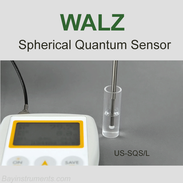 WALZ Spherical Micro Quantum Sensor - US-SQS/L, Walz Fluorometers and Photosynthesis Equipment - Bay Instruments, LLC