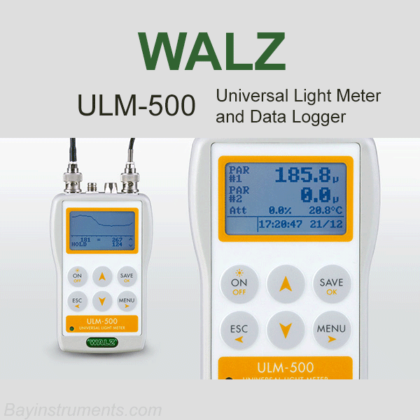 ULM-500 Universal Light Meter and Data Logger, Walz Fluorometers and Photosynthesis Equipment - Bay Instruments, LLC