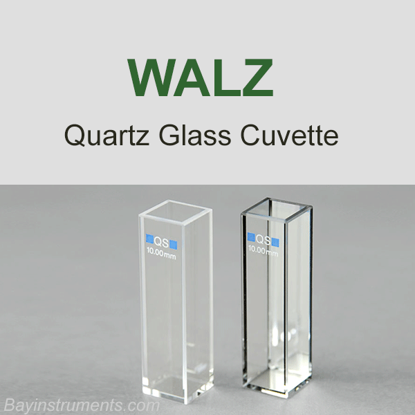 Walz Quartz Glass Cuvette US-K0, Walz Fluorometers and Photosynthesis Equipment - Bay Instruments, LLC