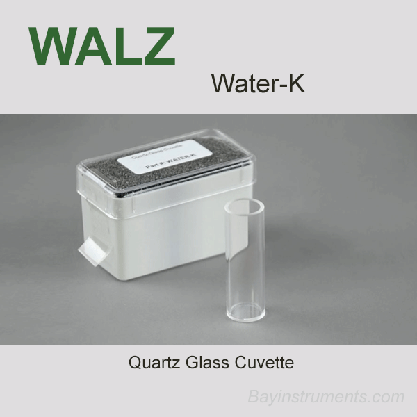 Water-K Cuvette for PHYTO-PAM-II, Walz Fluorometers and Photosynthesis Equipment - Bay Instruments, LLC