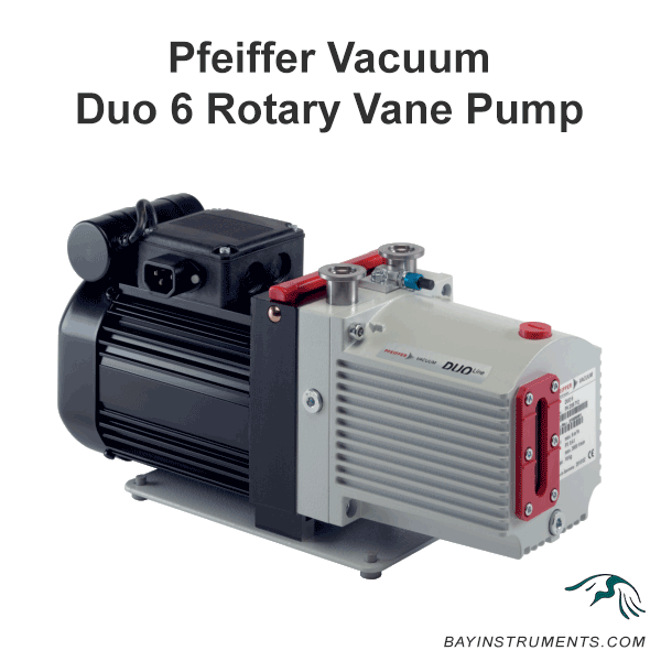 Pfeiffer Vacuum Duo 6 Two-Stage Rotary Vane Pump, rotary vane pump - Bay Instruments, LLC