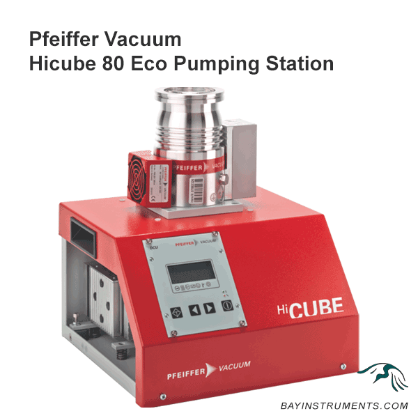 Pfeiffer Vacuum HiCube 80 Eco Pumping Station, NEW 4-Stage Diaphragm Pump, DN 63 CF-F, MVP 015-4, 100–240V, pumping stations - Bay Instruments, LLC