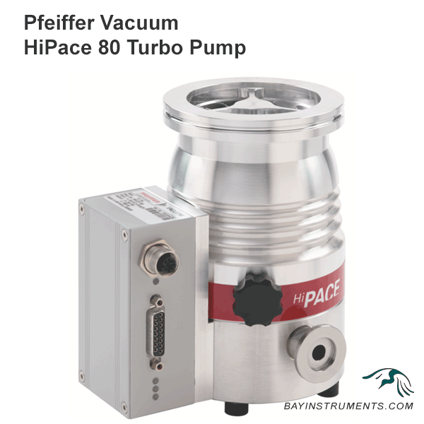 Pfeiffer Vacuum HiPace 80 Turbopump with Integrated TC 110, turbopump - Bay Instruments, LLC